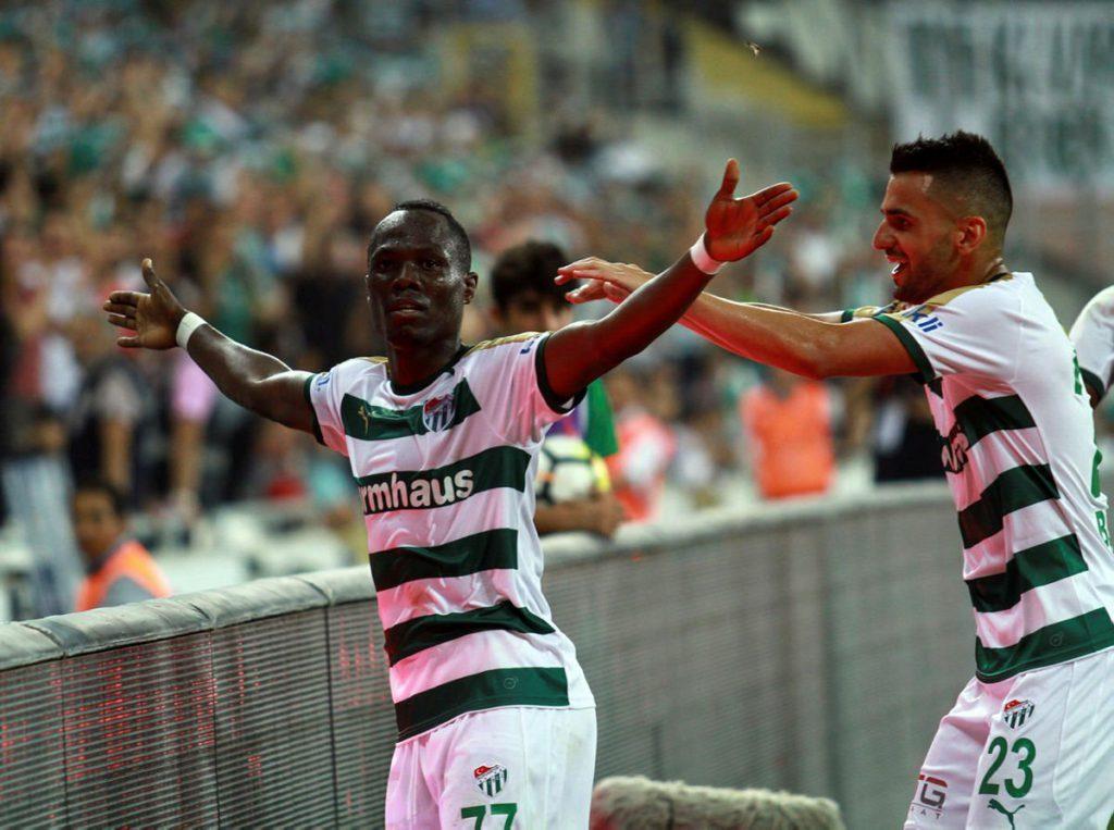 VIDEO: Agyemang-Badu scores debut goal for Bursaspor in Turkish League