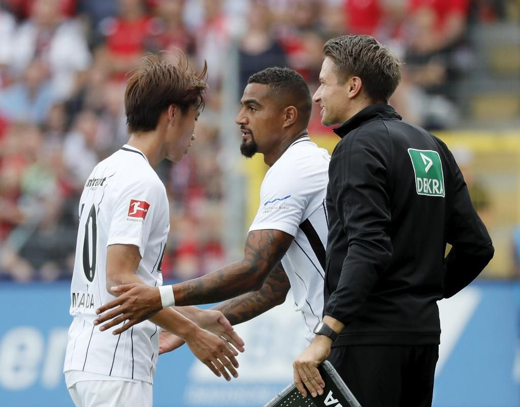 In-form Kevin-Prince Boateng expresses delight with Frankfurt debut
