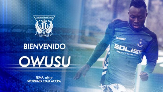 Spanish side Leganes sign Ghanaian player Kwabena Owusu