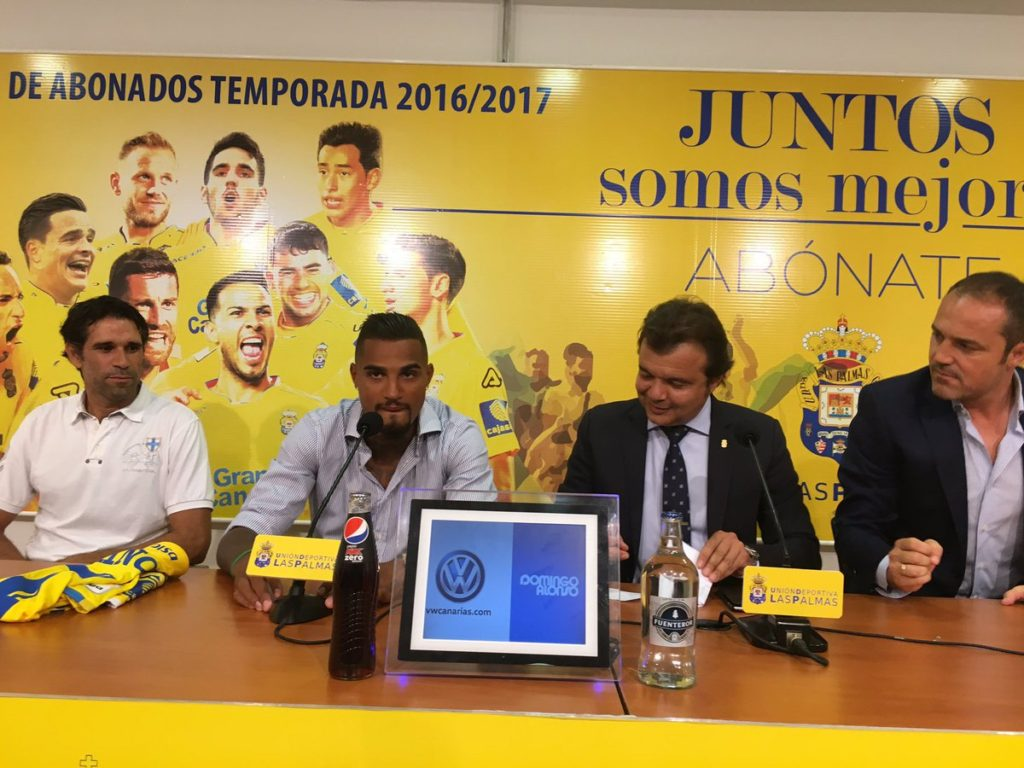 Kevin Boateng to bid farewell to Las Palmas fans in a presser today